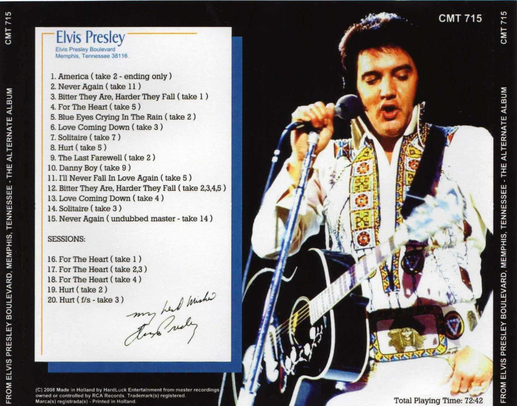 From Elvis Presley Boulevard Memphis Tennessee Original Alternate